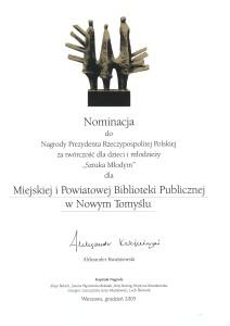 005_2005_nominacja do nagrody prezydenta