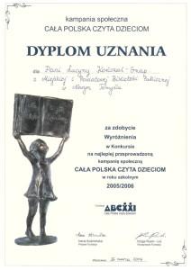 013_2007_wyroznienie_cala Polska czyta dzieciom
