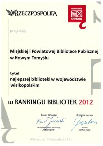017_2012_Najlepsza biblioteka woj.wlkp