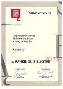 018_2013_Najlepsza biblioteka woj.wlkp