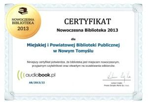 019_2013_certyfikat nowoczesna biblioteka