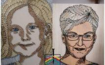 Dwa portrety: dziewczynki oraz kobiety w okularach.
