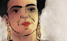Obraz. Portret kobiety z kokardą na głowie i kolczykach.