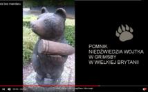 pomnik niedźwiedzia Wojtka w Grimbsby w Wielkiej Brytanii