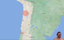 mapa Chile z zaznaczonym celem wyprawy