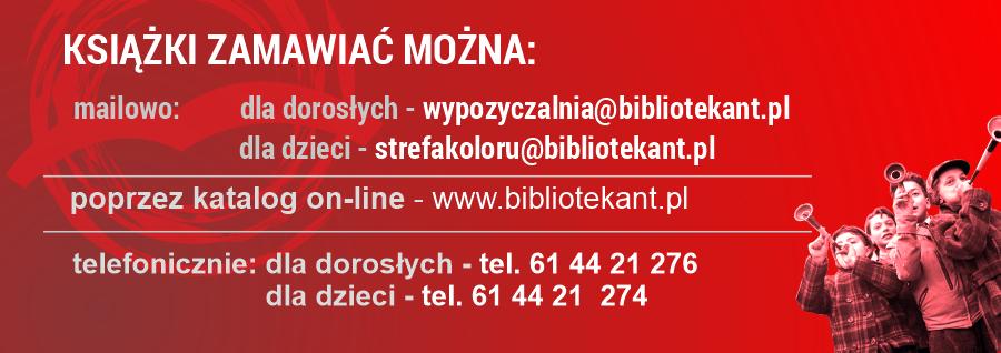 plansza z informacjami o kontaktach z poszczególnymi działami biblioteki