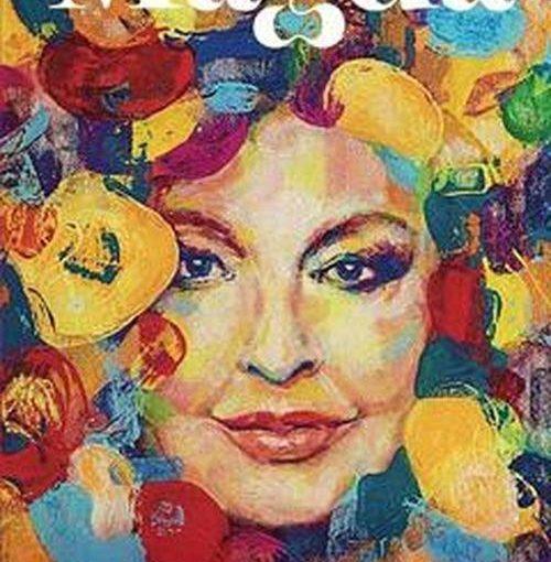 okładka książki, twarz kobiety otaczają kolorowe plamy, u góry napis Magda, u dołu autobiografia Magdy Gessler