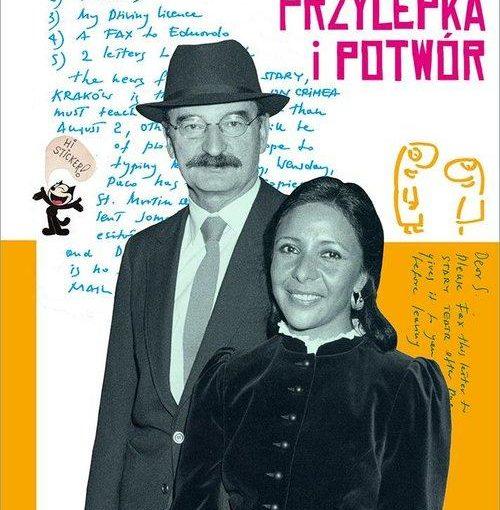 okładka książki, mężczyzna w kapeluszu i kobieta stojąca obok, u góry w prawym rogu Susana Mrożek